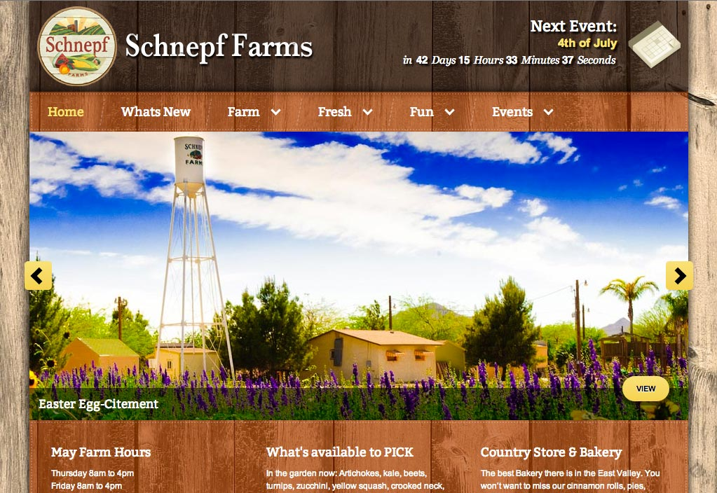 Schnepf Farms - FRYE DIGITAL | Website Design - Maintenance ...